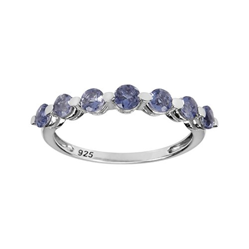 AURA BY TJM 925 STERLING SILVER RING SET WITH 0.56 CTW, FACET CUT, ROUND -