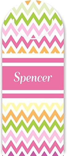 rikki-knight-spencer-pink-chevron-name-design-flexible-plastic-clip-on-bookmark-made-in-the-usa