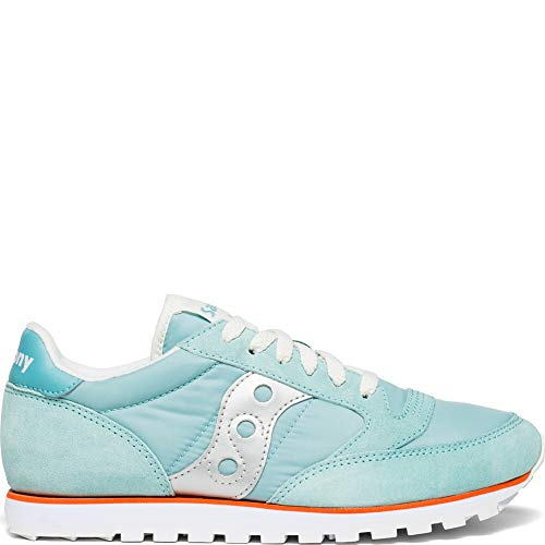 Saucony Originals Women's Jazz Lowpro Sneaker, Seafoam/Orange/Silver, 9 M US