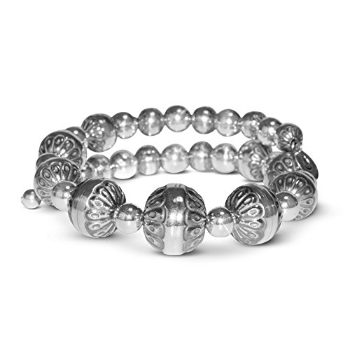American West Santa Fe Native Pearl Sterling Coil Bracelet - Classics Collection (Bracelet Pearl American Pearl)