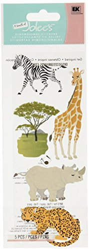 (Jolee's Boutique Dimensional Sticker, Safari Animals)