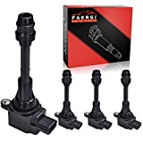 FAERSI Ignition Coil Pack of 4 Replace# UF350, 22448-8H315, 22448-8H310, C1398 for L4 2.5L - 2002-2006 Nissan Altima, 2002-2008 Nissan Sentra, 2002-2008 & 2010-2013 Nissan X-Trail - 2 Yr Warranty