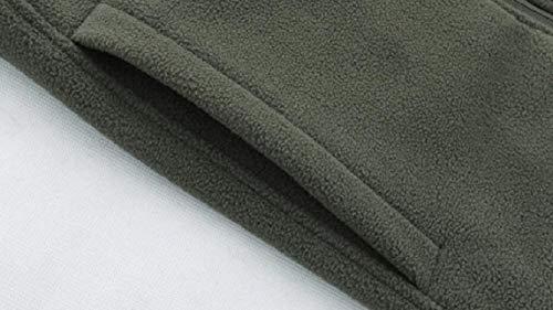 Addensare Pile Zip Basamento In Del Uomini Sicurezza Della Verde Giacca Degli Inverno Fino Collare Caldo wqTz8X77x