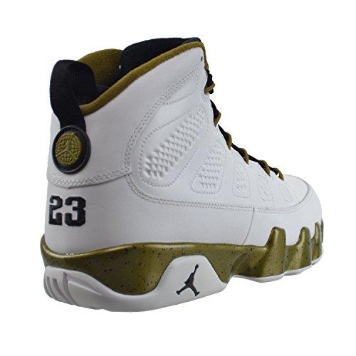 Nike Air Jordan 9 Retro, Zapatillas de Deporte para Hombre white/black-miltia green