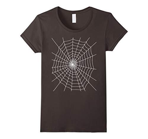 Womens Halloween Spider Web Costume T Shirt Large Asphalt for $<!--$14.95-->