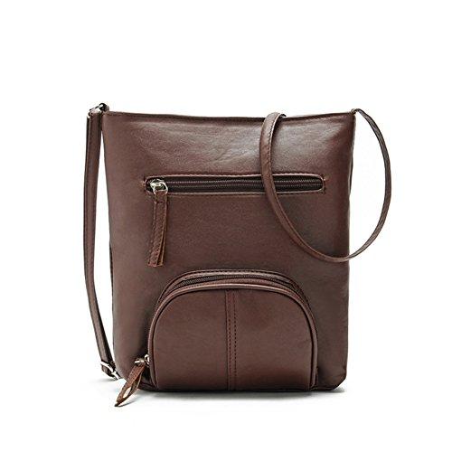 Satchel Messenger Womens Cross D Leather Prettymenny Handbag Bag Body Shoulder Lady agPTw