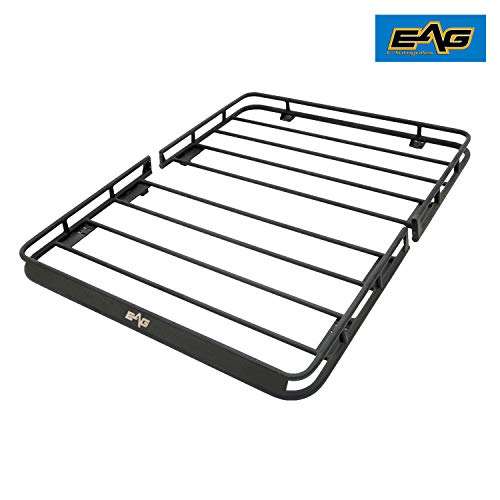 Eag 2 Door Roof Rack Cargo Basket W Wind Deflector For 07