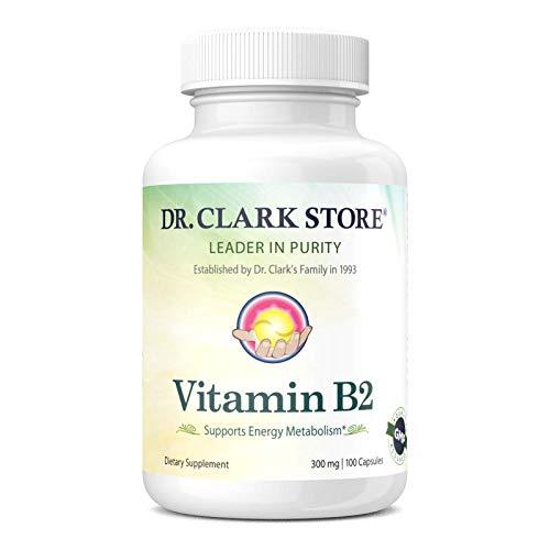 Dr. Clark Vitamin B2 Supplement, 300mg, 100 capsules