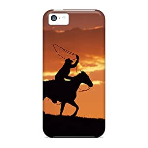 FGIhioC2760ZbRLw Anti-scratch Case Cover Williamwtow Protective Sunset Rodeo Case For Iphone 5c