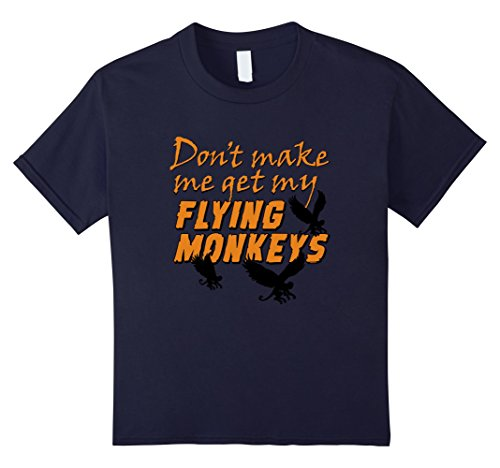 Kids Don't Get My Flying Monkeys - Funny Halloween T-shirt 12 Navy (2016 Pumpkin Carving Ideas)