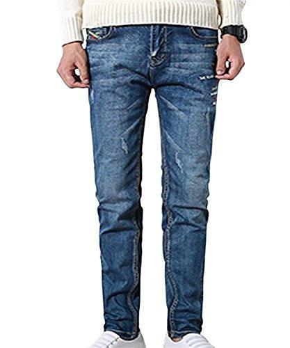 Destinyhand Denim Jeans for Juniors Slim Fit (Blue 42)
