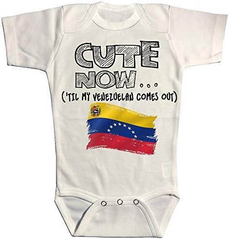 DHDFHDF Baby Onesie Venezuela Map Jumpsuit Soft Creeper Romper Comfy Bodysuit