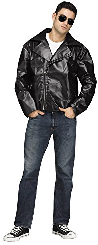Fun World Men's 50s Biker Adult Jacket, Multi, Standard