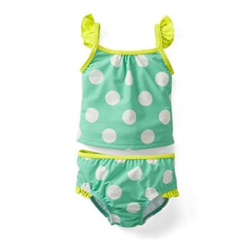 (Carter's Girls Torquoise Polka Dot 2 Piece Tankini Swimsuit (12 months))
