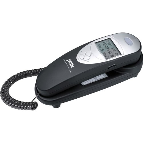 jWIN JTP79BLK Corded Trim Style Caller ID Telephone (Black)