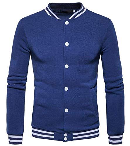 Baseball Blue Kangqi X Pour Vestes De small couleur À Longues Denim Taille Vêtements Hommes Manches Us rHwPrX