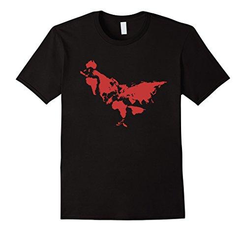 Chicken World Map Girt Shirts - Chicken Art Men Women Shirts