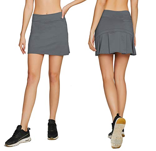 Women's Casual Pleated Tennis Golf Skirt with Underneath Shorts Running Skorts gy s
