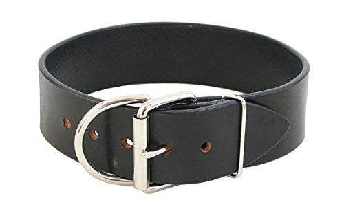 BLACK 2\ BLACK 2\ Auburn Leathercraft Tuff Stuff Collar 2  x 34  Black