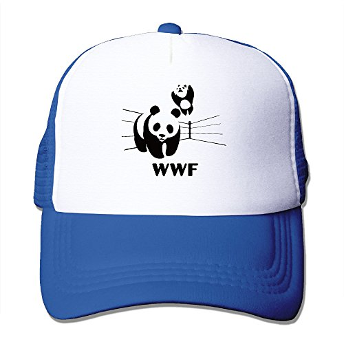 men-women-adjustable-world-wildlife-fund-logo-trucker-cap-youth-mesh-hat-royalblue