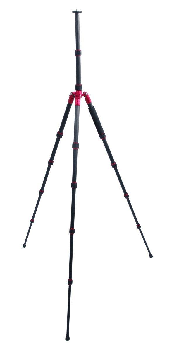 TERRA FIRMA TRIPODS T-CF500-BH200 Carbon Fiber 5 Section Tripod Leg Set with Ball Head BH200, Black/Red by TERRA FIRMA TRIPODS (Image #3)