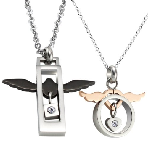 stainless steel angel pendent - 4
