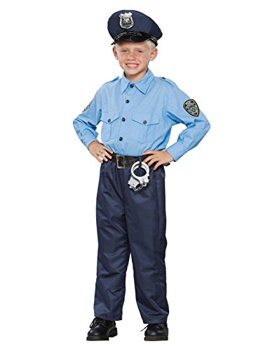 Seasons 196520 Deluxe Policeman Child Costume Size: Medium (8-10)