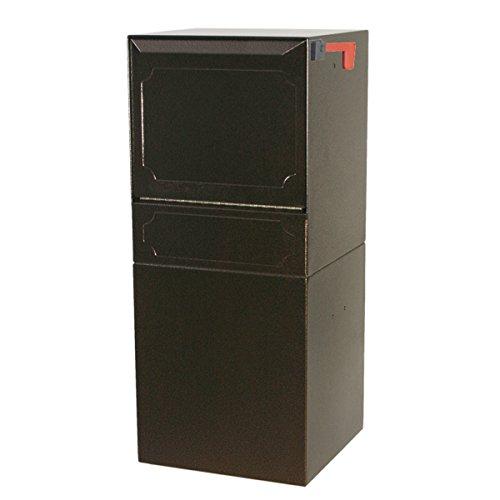 - dVault Parcel Protector Vault DVU0050 Locking Post/Column Mount Mailbox (Copper Vein)