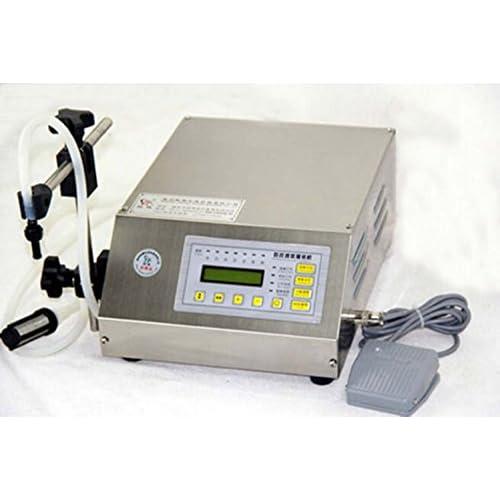Machine de remplissage liquide 220V Embouteilleuse de bouteille Pompe de contrôle numérique avec pédale