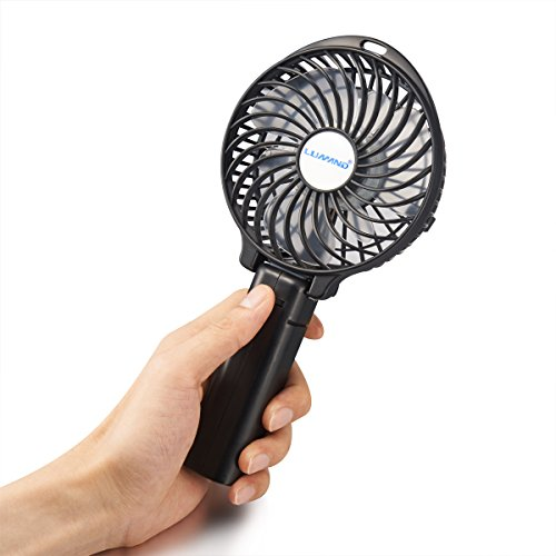 Lumand Outdoor Hand Fan Battery Operated Rechargeable