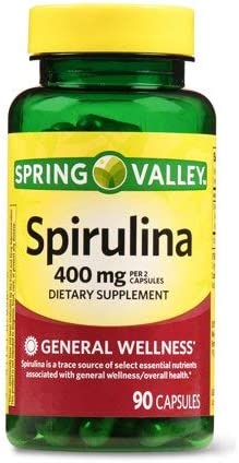 Spring Valley Spirulina 400 mg, General Wellness, 90 Capsules Pack of 2