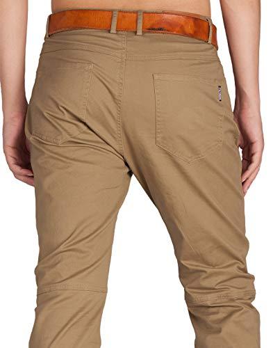 Cotone Cachi Uomo Chino Scuro Pantaloni Casual Italy Morn Creativo Fqa0ag