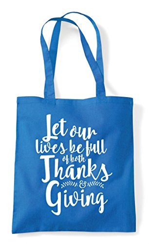 Be Let Our Giving Statement Thanks Shopper And Lives Both Full Sapphire Of Tote Bag qEqxFwrZ