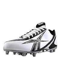 REEBOK PRO BURNER SPEED LOW M3 MENS FOOTBALL CLEATS WHITE BLACK 12