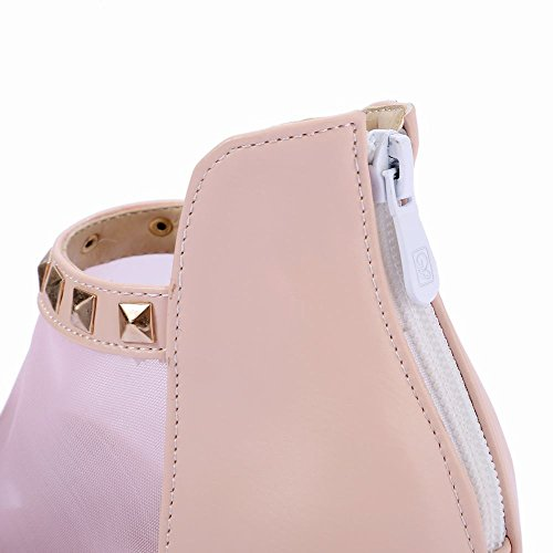 MissSaSa Donna Scarpe Casual Stile col Punta Aperta (35, rosa)