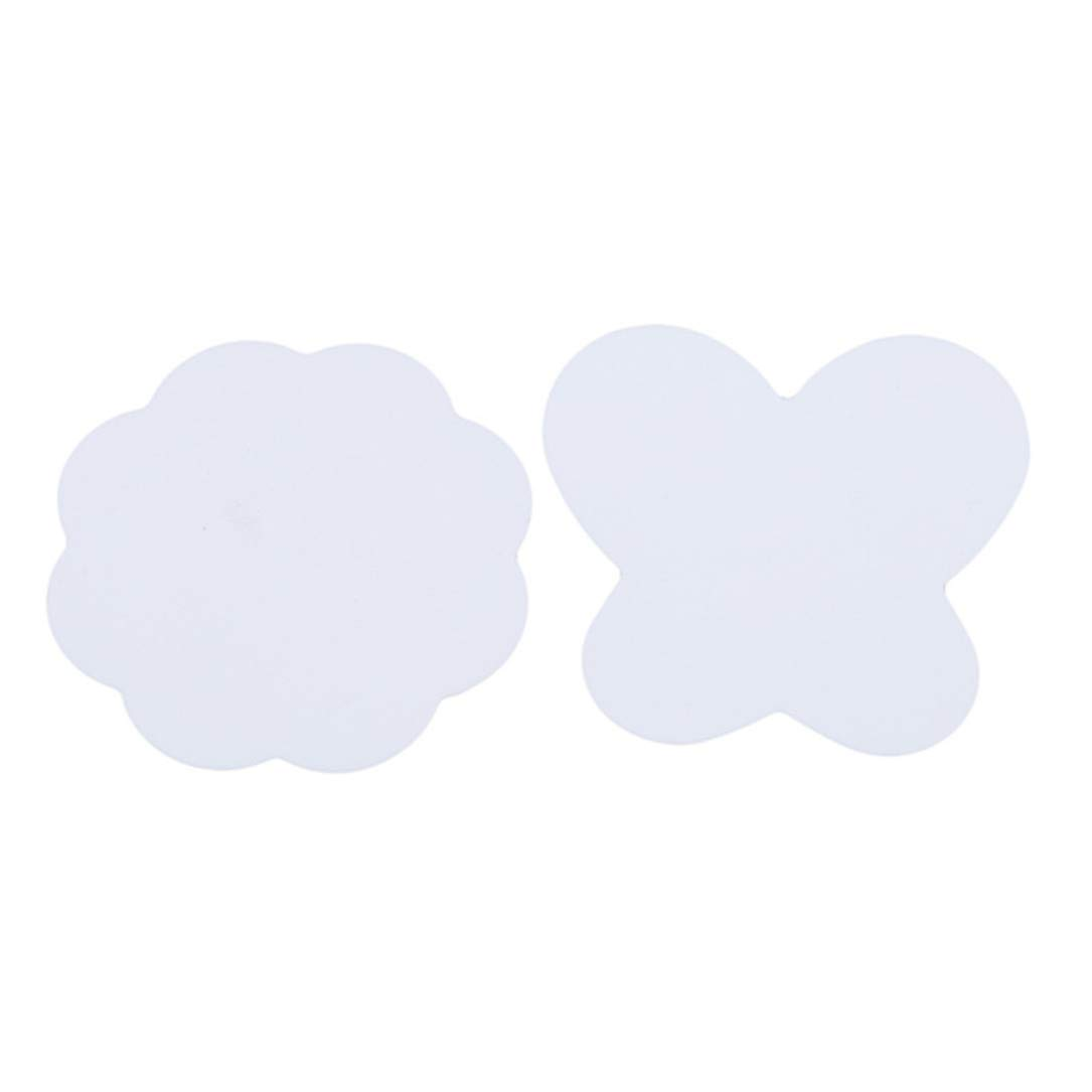 lehao Nail Silicone Mixing Paint Palette Mat Foldable Washable Nail Art Stamping Pad DIY Drawing Tool,White