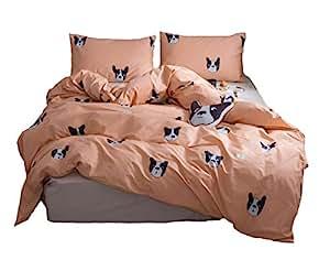 Amazon.com: Cozydecor Cartoon Animals Dog Printed Duvet