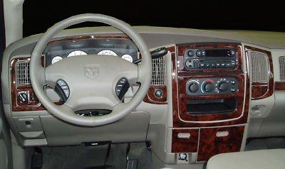 dodge ram 1500 2500 3500 interior wood dash trim kit set 2002 2003 2004 2005 buy online in uae. Black Bedroom Furniture Sets. Home Design Ideas
