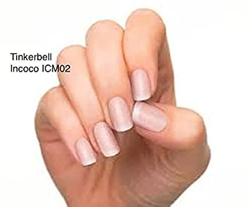 Tinkerbell Pink Incoco Nail Polish Applique Press On Wrap Strips In