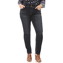 Angels Jeans Women's Plus Size Curvy Skinny Jean, Victoria, 18W