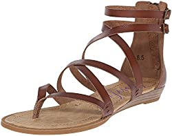 Blowfish Women's Bungalow Sandal, Whiskey, 10 M Us