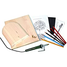 Walnut Hollow Deluxe Woodburning Kit with Woodburning Pen, Patterns, Color Pencils and Instructions