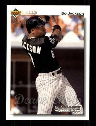 Amazoncom 1992 Upper Deck 555 Bo Jackson Chicago White