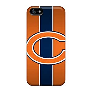 Scratch Protection Hard Cell-phone Case For Iphone 5/5s With Unique Design High Resolution Chicago Bears Skin JamesKrisky