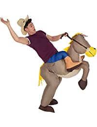 Mens Inflatable Brown Ride on Costume