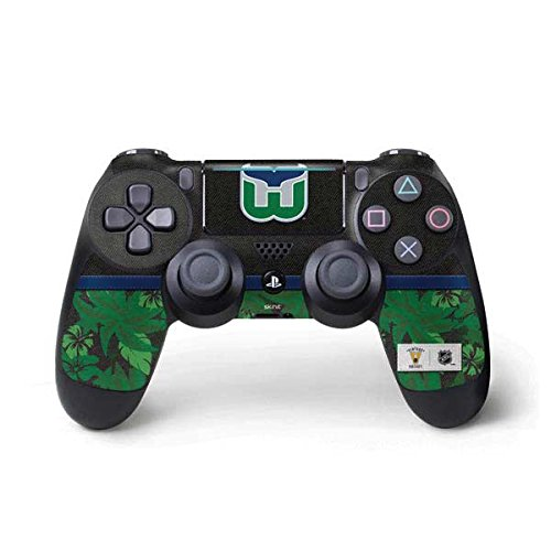 Skinit Hartford Whalers Retro Tropical Print PS4 Pro/Slim Controller Skin - Officially Licensed NHL Gaming Decal - Ultra Thin, Lightweight Vinyl Decal - Hartford Game Whalers