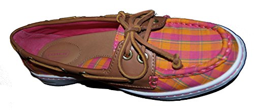 Coach Richelle Plaid Mat Calf Topsider Embarcaciones 7.5 M