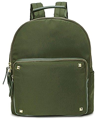Big Handbag Shop - Bolso mochila  de tela para mujer Design 2 - Army Green
