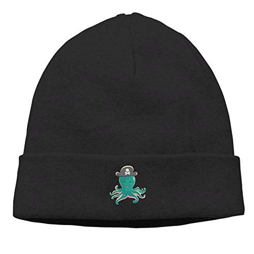 [Men Women Blue Octopus Pirates Daily Hat Skull Cap Winter Sports Beanie Cap Unisex] (Pirate Tooth Cap With Skull)