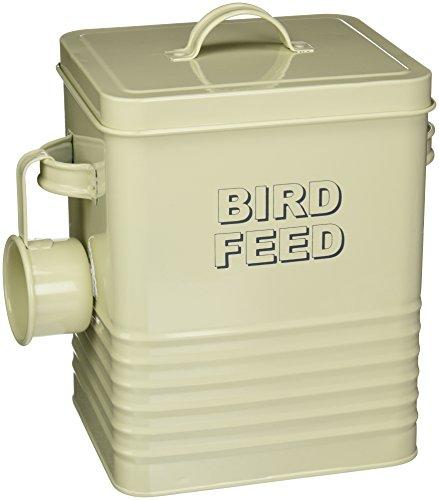 The Leonardo Collection Home Sweet Home Bird Feed Storage Box, Cream